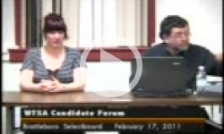 WTSA Selectboard Candidate Forum / WTSA Brattleboro SB Candidates 2/17/11