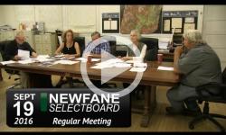 Newfane Selectboard Mtg 9/19/16