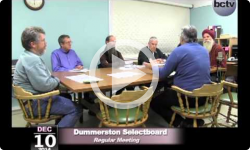 Dummerston Selectboard Mtg 12/10/14