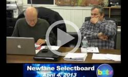 Newfane Selectboard Mtg 4/4/13