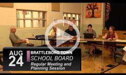 Brattleboro Town School Bd Mtg 8/24/16