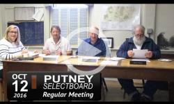 Putney Selectboard Mtg 10/12/16