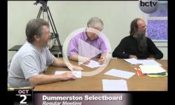 Dummerston Selectboard Mtg. 10/2/13