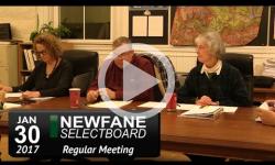 Newfane Selectboard Mtg 1/30/17