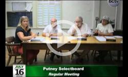 Putney Selectboard Mtg 7/16/14