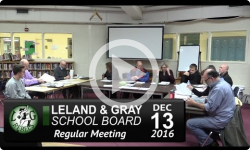 Leland and Gray School Board 12/13/15