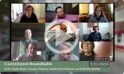 Community Forum: With VT State Reps Tristan Toleno, Emilie Kornheiser, and Mollie Burke 5/23/20