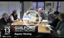 Guilford Selectboard Mtg 3/13/17