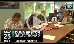Dummerston Selectboard Mtg 5/25/16