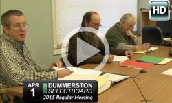 Dummerston Selectboard Mtg 4/1/15