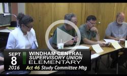 WCSU Elementary Act 46 Mtg 9/8/16