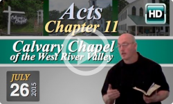 Calvary Chapel: July 26, 2015