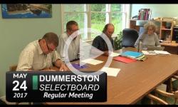 Dummerston Selectboard Mtg 5/24/17