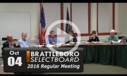 Brattleboro Selectboard Mtg 10/4/16