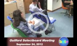 Guilford Selectboard Mtg. 9/24/12