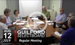 Guilford Selectboard Mtg 8/12/19