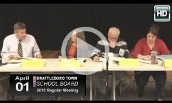Brattleboro Town School Bd Mtg 4/1/15
