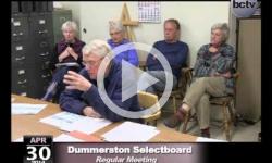 Dummerston Selectboard Mtg. 4/30/14
