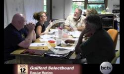 Guilford Selectboard Mtg. 8/12/13