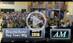 2016 Brattleboro Rep Town Mtg. - AM Session 3/19/16