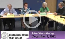 Brattleboro Union High School Bd. Mtg. 12/3/12