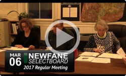 Newfane Selectboard Mtg 3/6/17