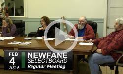 Newfane Selectboard Mtg 2/4/19