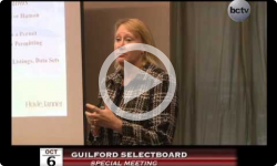 Guilford Special Selectboard Meeting 10/6/14