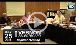 Vernon Selectboard Mtg 7/25/16
