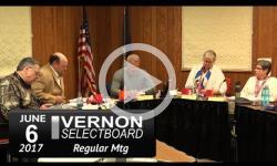 Vernon Selectboard Mtg 6/6/17