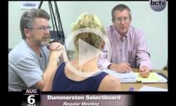 Dummerston Selectboard Mtg 8/6/14
