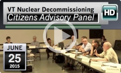 VT Nuclear Decommissioning Citizens Advisory Panel: 6/25/15