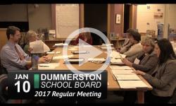 Dummerston School Board Mtg 1/10/17
