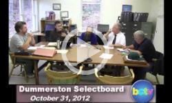 Dummerston SB Mtg. 10/31/12