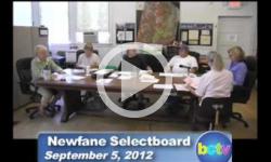 Newfane Selectboard Mtg. 9/5/12