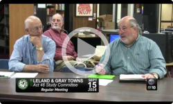 Leland and Gray Towns Act46 Study Committee Mtg. 9/15/16