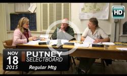 Putney Selectboard Mtg 11/18/15