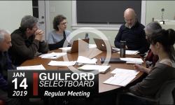 Guilford Selectboard Mtg 1/14/19