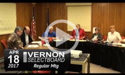 Vernon Selectboard Mtg 4/18/17