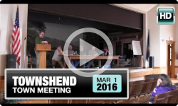 2016 Townshend Town Meeting 3/1/16