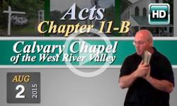 Calvary Chapel: August 2, 2015