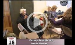 Putney Schoolboard Special Mtg 9/18/13
