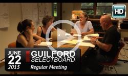 Guilford Selectboard Mtg 6/22/15