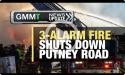 Huge Fire Shuts Down Putney Road! 2/21/17 (News Clip)