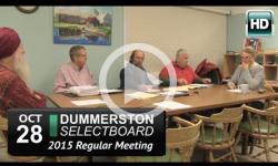 Dummerston Selectboard Mtg 10/28/15