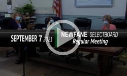 Newfane Selectboard: Newfane SB Mtg 9/7/21