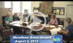 Newfane Selectboard Mtg. 8/2/12