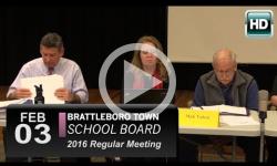 Brattleboro Town School Bd Mtg 2/3/16