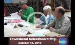 Townshend Selectboard Mtg 10/15/12