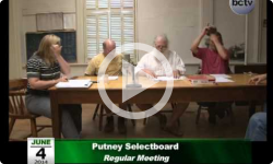 Putney Selectboard Meeting 6/4/14